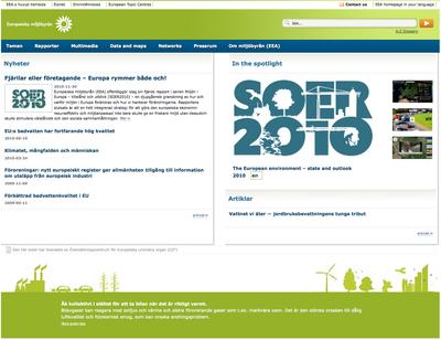 Europeiska miljöagenturens på svenska